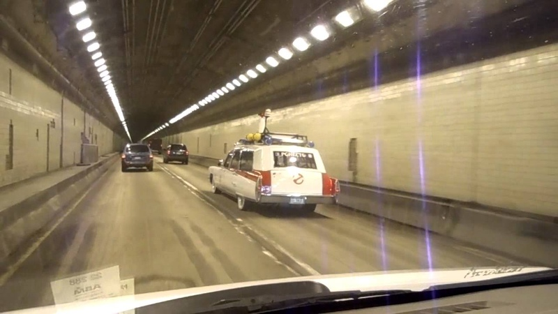 The Pittsburgh Ecto-1 in Squirrel Hill Tunnel, Pgh, PA