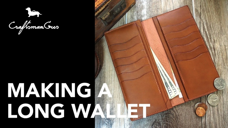 Making Leather Wallet Long Wallet (Portrait) LeatherAddict EP14
