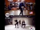Крутой танец кореянок и англичанки