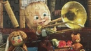 МАША И МЕДВЕДЬ собираем Пазлы для детей Маша играет на трубе Merry Nika