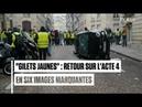 Six images marquantes de l'acte 4 des gilets jaunes à Paris