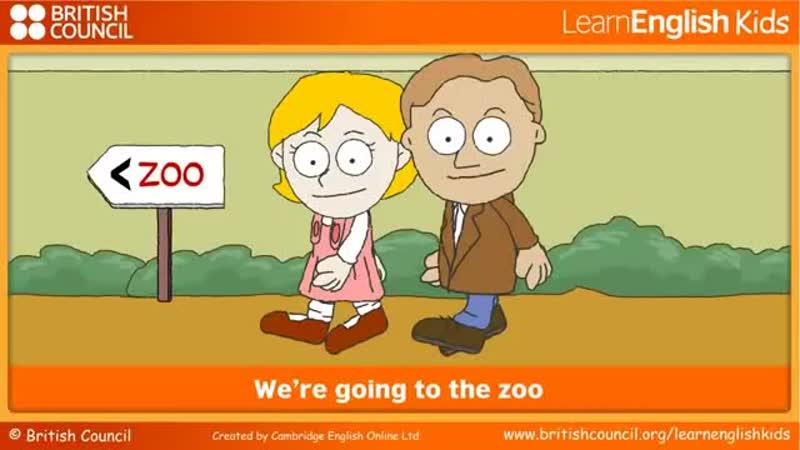 Изучение английского языка через песни для детей детская песня Were going to the zoo