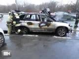 На Пролетарском проспекте в Москве сгорел автомобиль