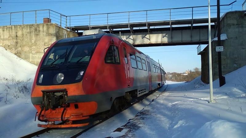 Рельсовый автобус РА2-107 (ТЧ-22 Новомосковск) о.п. Кремлево