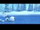 Смешной короткий мультик Снеговик и Лось...
