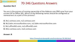 Get Latest MCSA 70-346 Exam Dumps Questions Answers