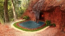 Dig To Build Natural Water Fall Underground Swimming Pool Underground House