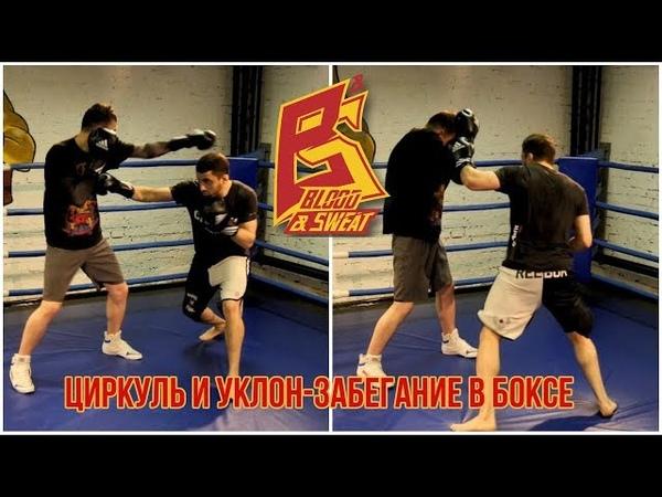 Циркуль и уклон-забегание в боксе. Техника и отработка.