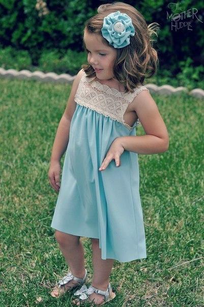 Шьем платье девочки своими руками. (8 фото) - картинка
