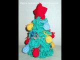 Вязание новогодней елки крючком - 2 часть - Knitting Christmas tree crochet