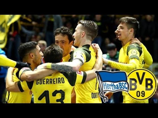 Hertha Berlin VS Dortmund 2 3 All goals Highlights 16 03 2019 HD