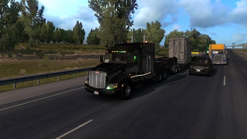 Длинный рейс(часть2).Перевозим трансформатор из DLC Heavy Cargo Pack.