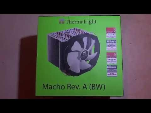 Система охлаждения процессора с помощью кулера Thermalright Macho Rev. A (BW)