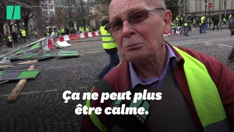 Parmi les gilets jaunes du 24 novembre, Bernard, 75 ans, est très content de ce qu'il a vu
