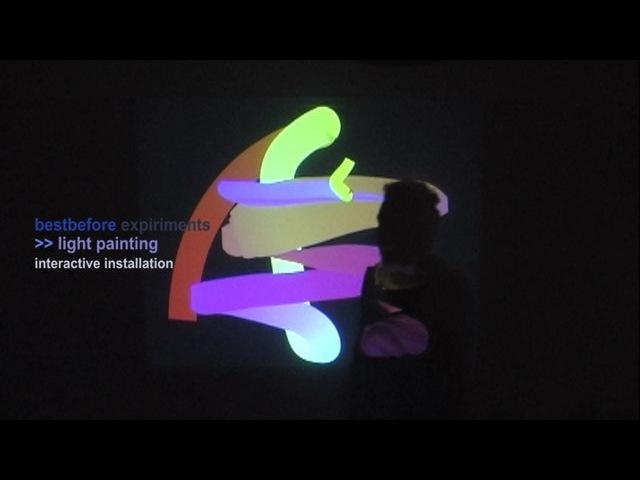 Max msp-jitter light painting