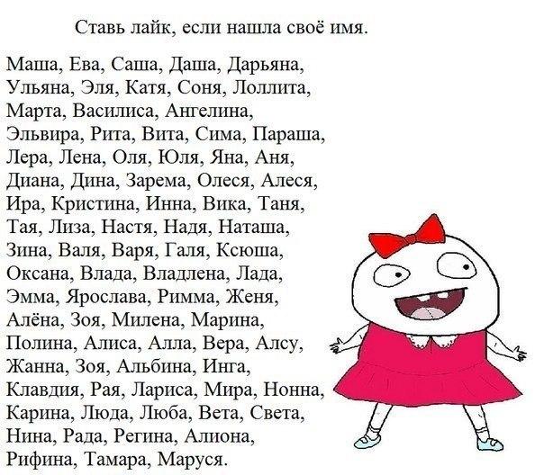 имена по для девочек: