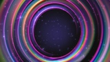4K Magic Rainbow Rings Hollow Space 2160p Motion Background