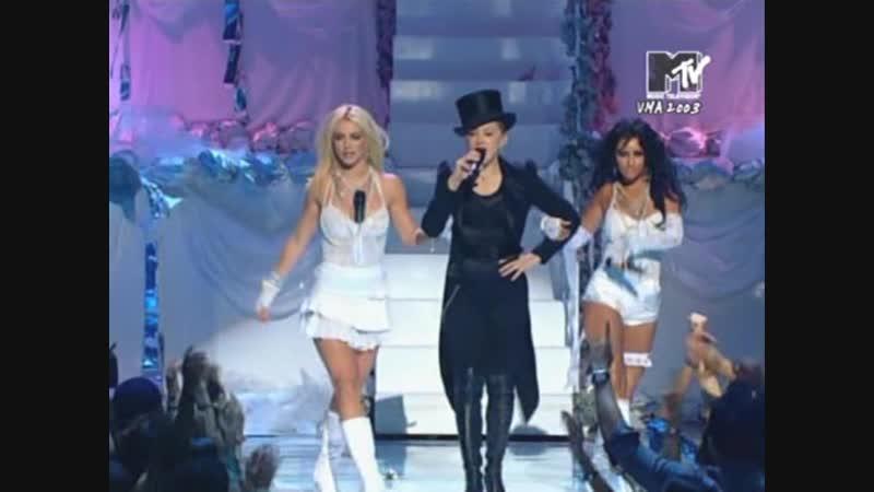 Madonna feat. Britney Spears, Christina Aguilera Missy Elliott - Hollywood (Live @ MTV VMA 2003)