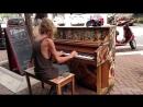 Homeless Man Plays Street Piano Beautifully in Florida (Come Sail Away) _ Mashab