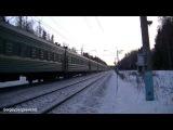 Электровоз ЧС7 с поездом № 47 Кишинёв - Москва