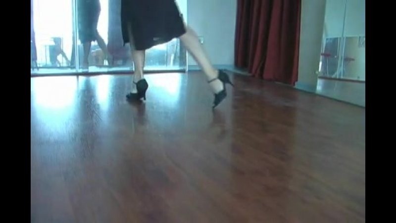 Tango tutorial for lady steps- Walking backwards