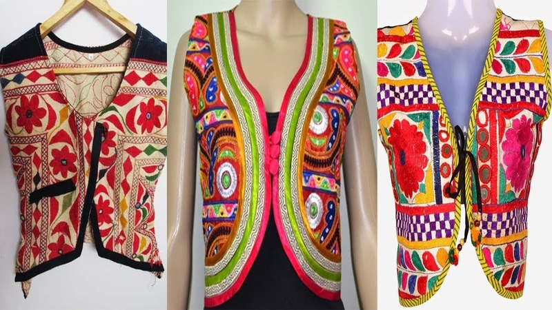 Mirror Work Embroidery Jackets Designs For Girls hand embroidery mirror work shisha work