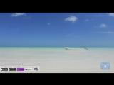 _Blue_Lagoon_Boat___Beach__4K_Nature_Relaxation____Static_Video___Screensaver___Yucatan__Mexico