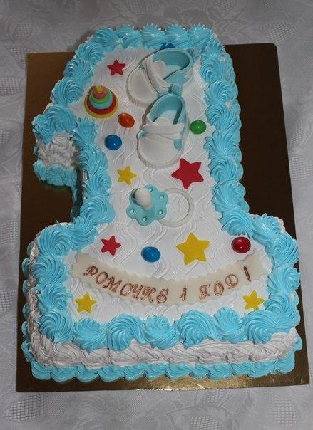 Торт из крема для мальчика на годик фото