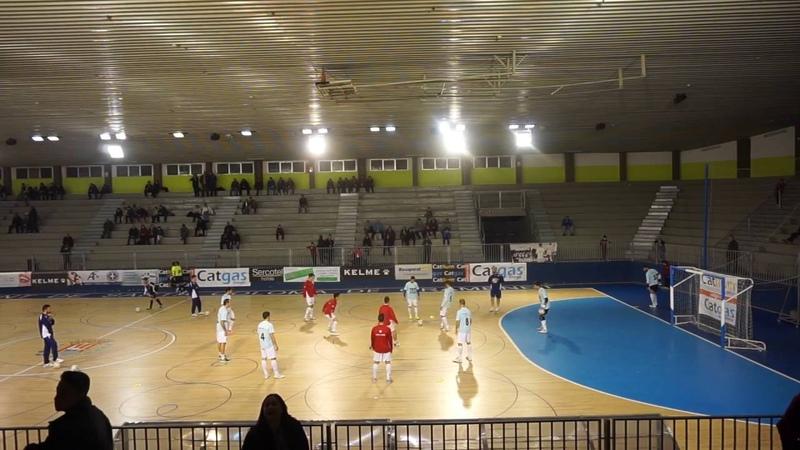 Futsal pre match warm up Spanish national league futbol sala