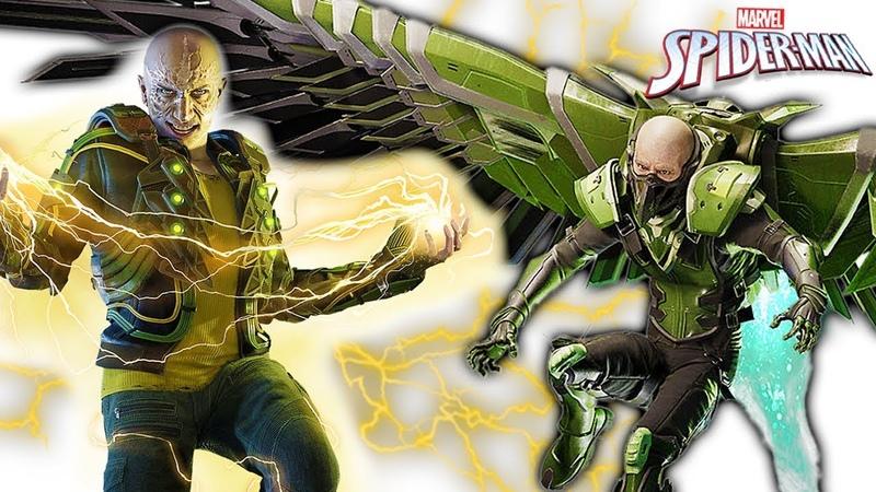 СТЕРВЯТНИК И ЭЛЕКТРО 2 БОССА на ПАУКА Marvel's Spider Man! Игра по мультику Человек Паук 28