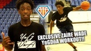 Zaire Wade OFFICIAL YngDnA Workout!! | Son of NBA LEGEND is PUTTING IN WORK