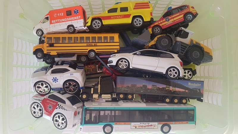 Box Full of Toys Learning Vehicle Names Transportation Cars for Kids Jano Toys