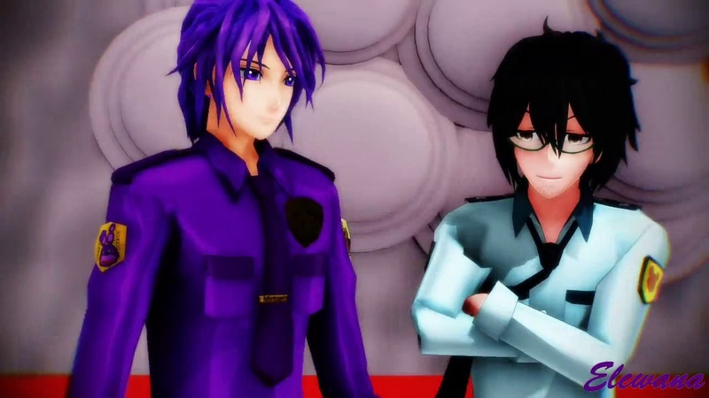 【MMD x FNaF】I LUV IT (Purple Guy x Phone Guy) [60 FPS]