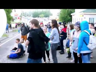 Фестиваль Уличных Музыкантов в Тихвине'18 Скво + Татьяна Мацкевич