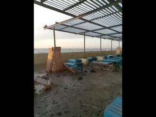 Алушта. Последствия шторма. 27 сентября 2017