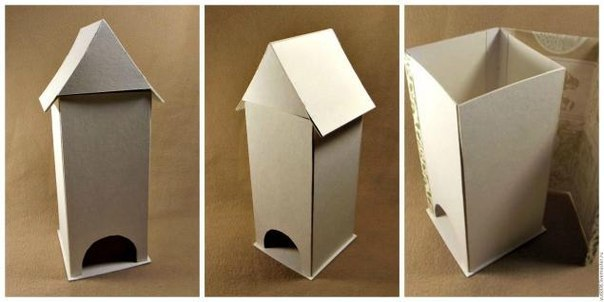 Чайный домик своими из картона руками