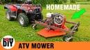 Homemade Front Mount ATV Mower