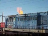 RUSSIAN LOCOMOTIVE COLD START BREATHS FIRE! COOL! SEE DESCRIPTION PLEASE!