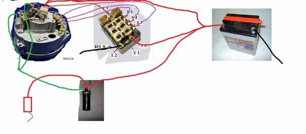 Схема зарядки юпитер 4