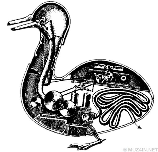 Первый робот 1700-х годов стала «Переваривающая утка»