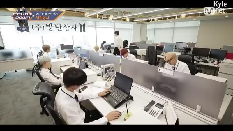 [Озвучка by Kyle] BTS играют в Офисных работников_ Отрывок из шоу Countdown