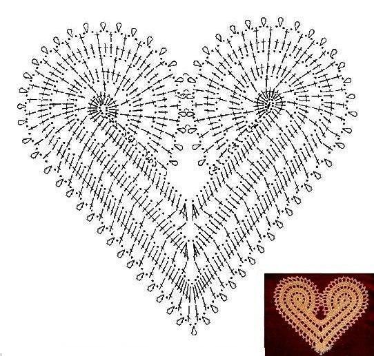 Amigurumi Crochet Diagram : Delicadezas en crochet Gabriela: Vestido diseno corazones ...