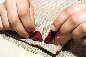 Ковер из остатков ткани