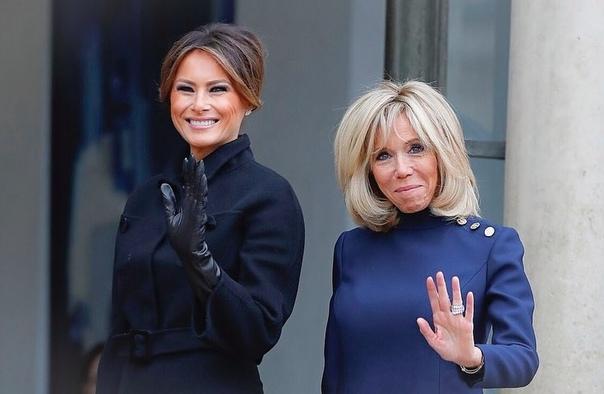 Мелания Трамп и Брижит Макрон Мишель РодригесШейлин Вудли на съемкахМарк Уолберг посетил шоу «Today»