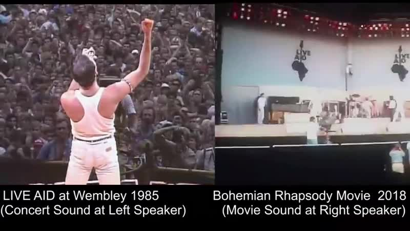 Bohemian.Rhapsody. [GOLDEN GLOBE 2019 Best Picture] side by side with Live Aid 1985