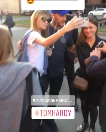"Tom Hardy Italia on Instagram ""Story by @tonyromanov Di oggi 20092018 tomhardy alcapone fonzo venom 🐍 🕷️ 🕸️ moscow"""