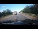 Момент столкновения Volkswagen Polo и Lexus на трассе Пермь-Екатеринбург
