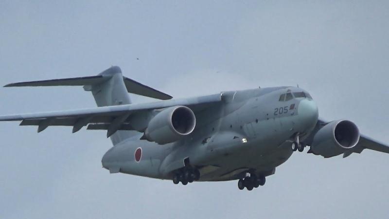 札幌航空ページェント2018年 航空自衛隊 C-2輸送機 航過飛行