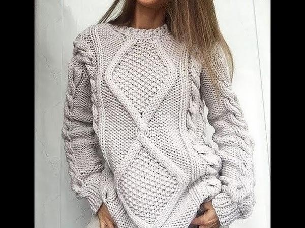 Пуловеры Спицами спущенные плечи 2019 Pullovers Spokes flattened shoulders