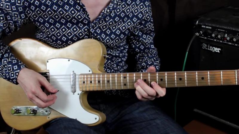 [Уроки игры на гитаре - Первый Лад] Как играть Хаммер он, Пулл офф и слайд на гитаре (Hammer-on, Pull-off, slide) - Уроки игры н